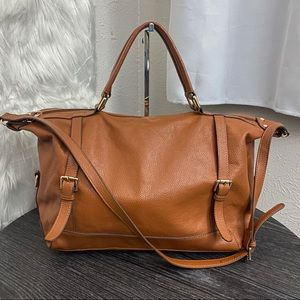 Ora Delphine Pebbled Leather Bag